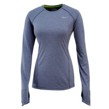 Saucony Velocity Running Shirt - Long Sleeve (For Women) in Midnight Heather - Closeouts