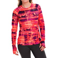 Saucony Velocity Running Shirt - Long Sleeve (For Women) in Purple Valour/Vizipro Electric - Closeouts