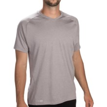 Saucony Velocity Running Shirt - V-Neck, Short Sleeve (For Men) in Heather Grey - Closeouts