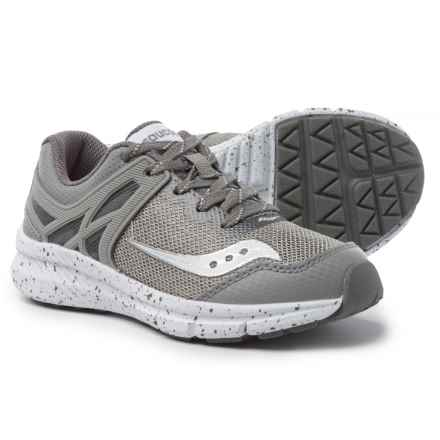 Saucony Velocity Sneakers (For Boys) in Grey - Closeouts