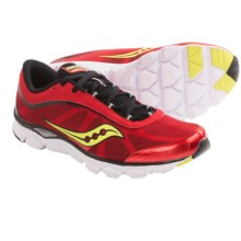 Saucony Virrata Running Shoes - Minimalist (For Men) in Red/Black/Citron - Closeouts