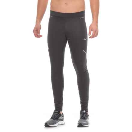 Saucony Vitarun Tights - Waterproof (For Men) in Black - Closeouts