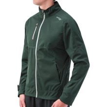 Saucony Vortex Jacket - Soft Shell (For Men) in British Racing Green/Grey - Closeouts