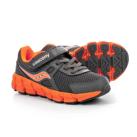 Saucony Vortex Running Shoes (For Boys) in Grey/Orange - Closeouts