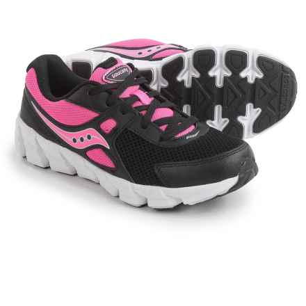 Saucony Vortex Shoes (For Youth Girls) in Black/Pink - Closeouts