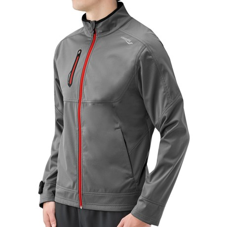 Saucony Vortex Soft Shell Jacket (For Men) in Element/Citron