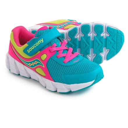 Saucony Vortex Strap Shoes (For Little and Big Girls) in Turquoise/Pink/Citron - Closeouts
