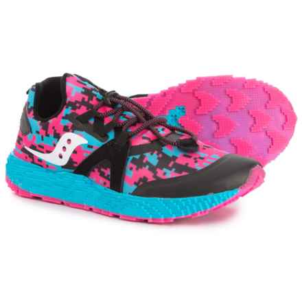 Saucony Voxel 9000 Running Shoes (For Little and Big Girls) in Pink/Black/Turquoise - Closeouts