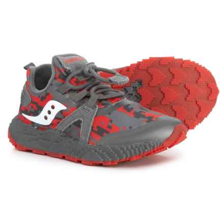 Saucony Voxel 9000 Sneakers (For Boys) in Grey/Red - Closeouts