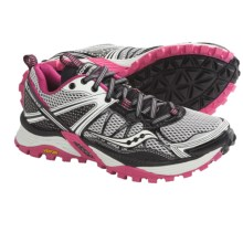 Saucony Xodus 3.0 Trail Running Shoes (For Women) in Grey/Black/Pink - Closeouts