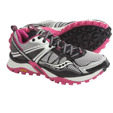 Saucony Xodus 3.0 Trail Running Shoes (For Women) in Grey/Black/Pink