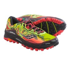 Saucony Xodus 6.0 Gore-Tex® Trail Running Shoes - Waterproof (For Men) in Citron/Red/Black - Closeouts