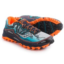 Saucony Xodus 6.0 Trail Running Shoes (For Men) in Blue/Orange - Closeouts