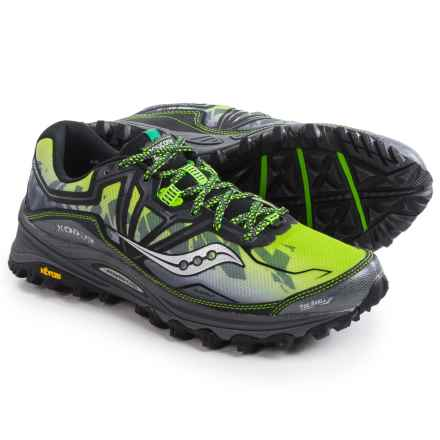 Saucony Xodus 6.0 Trail Running Shoes (For Men) in Grey/Black/Slime - Closeouts