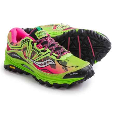 Saucony Xodus 6.0 Trail Running Shoes (For Women) in Green/Pink - Closeouts