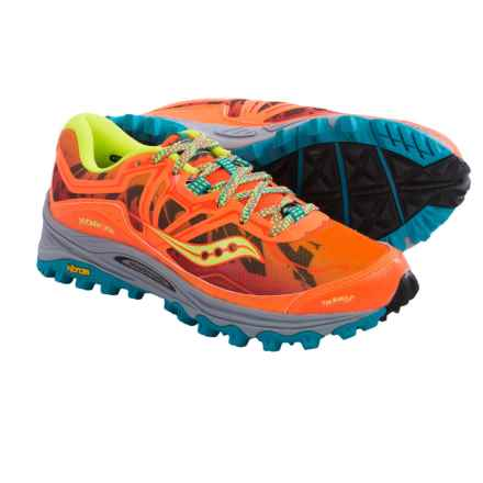 Saucony Xodus 6.0 Trail Running Shoes (For Women) in Orange/Blue/Citron - Closeouts