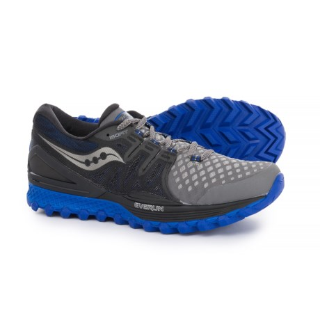 Saucony Xodus ISO 2 Trail Running Shoes (For Men) in Grey/Black/Blue