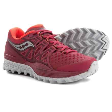 Saucony Xodus ISO 2 Trail Running Shoes (For Women) in Berry/Coral - Closeouts