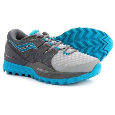 Saucony Xodus ISO 2 Trail Running Shoes (For Women) in Grey/Blue - Closeouts