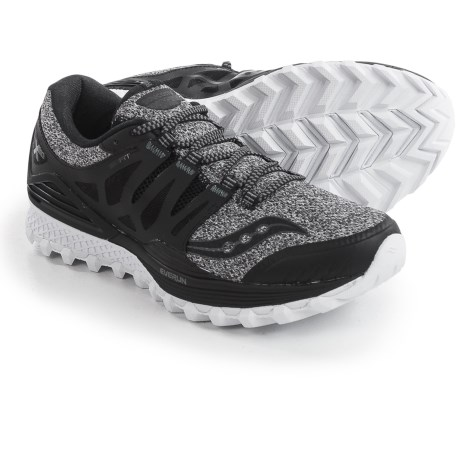 Saucony Xodus ISO Trail Running Shoes (For Men) in Marl/Black