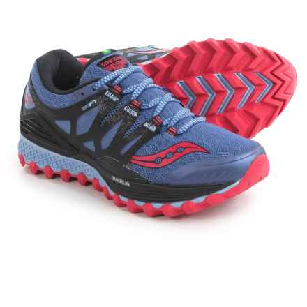 Saucony Xodus ISO Trail Running Shoes (For Women) in Denim/Black/Pink - Closeouts
