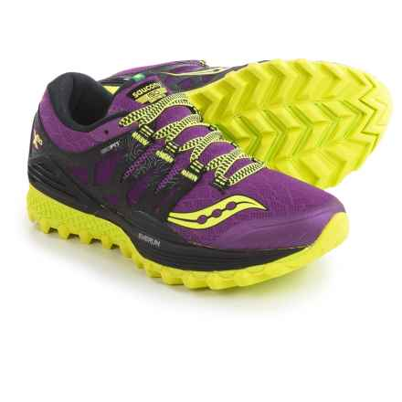 Saucony Xodus ISO Trail Running Shoes (For Women) in Purple/Citron - Closeouts