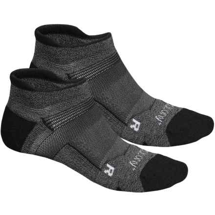 Saucony XP FlexTemp No-Show Socks - 2-Pack, Below the Ankle (For Men and Women) in Black - Closeouts
