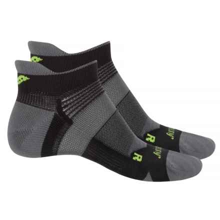 Saucony XP Lite Cushion No-Show Socks - 2-Pack, Below the Ankle (For Men and Women) in Black - Closeouts