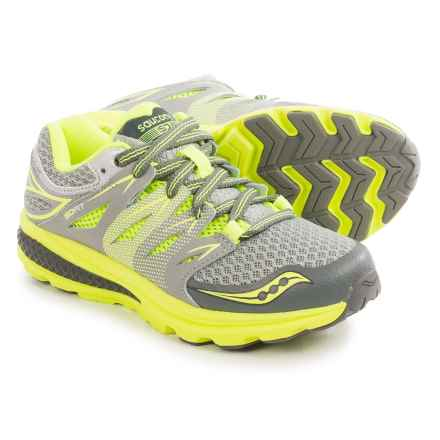 Saucony Zealot 2 Running Shoes (For Little Boys) in Grey/Citron - Closeouts
