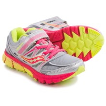 Saucony Zealot AC Running Shoes (For Little and Big Girls) in Silver/Coral/Citron - Closeouts
