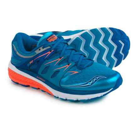 Saucony Zealot ISO 2 Running Shoes (For Men) in Blue/Orange - Closeouts