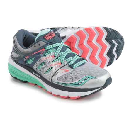Saucony Zealot ISO 2 Running Shoes (For Women) in Silver/Mint/Coral - Closeouts