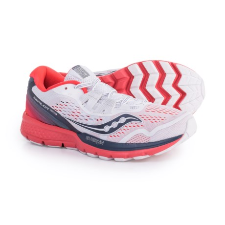 Saucony Zealot ISO 3 Running Shoes (For Women) in White/Grey/Vizired