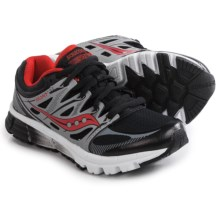 Saucony Zealot Running Shoes (For Little and Big Boys) in Black/Red/Silver - Closeouts