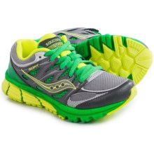 Saucony Zealot Running Shoes (For Little and Big Kids) in Grey/Green/Citron - Closeouts