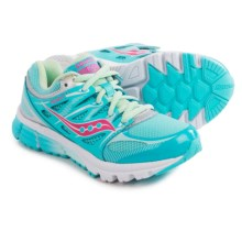 Saucony Zealot Running Shoes (For Little and Big Kids) in Turquoise/Silver/Vizi Coral - Closeouts