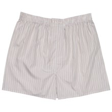 Savile Collection by Derek Rose Boxer Shorts - Cotton (For Men) in White/Beige Stripe - Closeouts