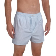 Savile Collection by Derek Rose Boxers - Cotton (For Men) in Baby Blue/White/Navy/Light Blue - Closeouts