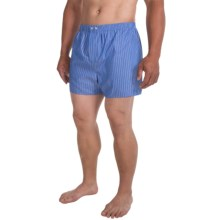 Savile Collection by Derek Rose Boxers - Cotton (For Men) in Blue/White Pin Stripe - Closeouts