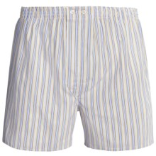 Savile Collection by Derek Rose Boxers - Cotton (For Men) in Blue/Yellow/White Stripe - Closeouts