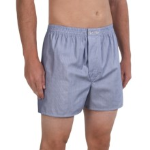 Savile Collection by Derek Rose Boxers - Cotton (For Men) in Oxford Stripe - Closeouts