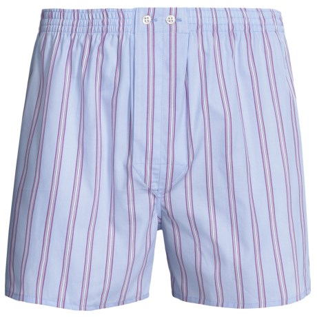 Savile Collection by Derek Rose Boxers - Cotton (For Men) in Pink/Blue/White Stripe