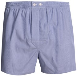 Savile Collection by Derek Rose Boxers - Cotton (For Men) in Piped Navy