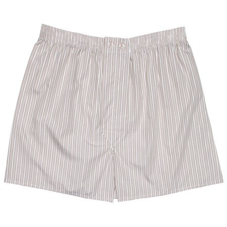 Savile Collection by Derek Rose Boxers - Cotton (For Men) in White/Beige Stripe