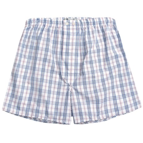 Savile Collection by Derek Rose Boxers - Cotton (For Men) in Blue/White Mini Check