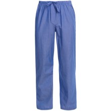 Savile Collection by Derek Rose Pajama Bottoms with Button-Fly (For Men) in Blue/White Pin Stripe - Closeouts