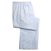 Savile Collection by Derek Rose Pajama Bottoms with Button-Fly (For Men) in Blue/Yellow/White Stripe - Closeouts