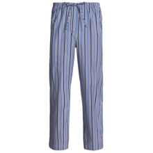 Savile Collection by Derek Rose Pajama Bottoms with Button-Fly (For Men) in Charcoal/Blue/Navy Multi Stripe - Closeouts