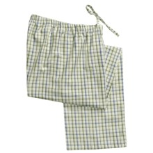 Savile Collection by Derek Rose Pajama Bottoms with Button-Fly (For Men) in Green - Closeouts