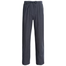 Savile Collection by Derek Rose Pajama Bottoms with Button-Fly (For Men) in Navy/White Check - Closeouts